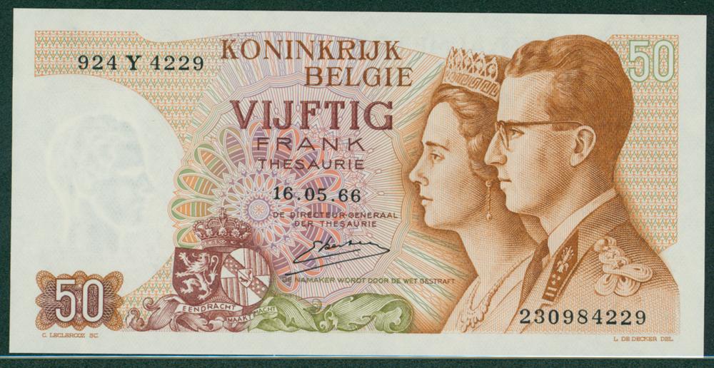 Belgium 1966 50 Francs