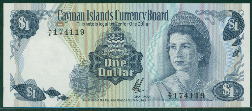 Cayman Islands 1971 1 Dollar