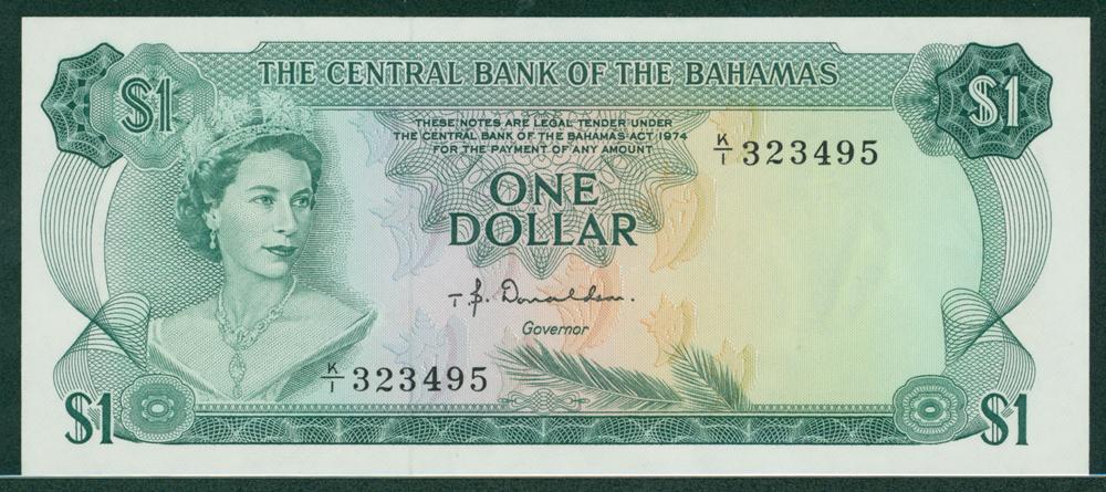 Bahamas 1974 1 dollar Donaldson
