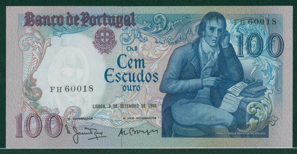 Portugal 1980 Sept 2nd 100 Escudos