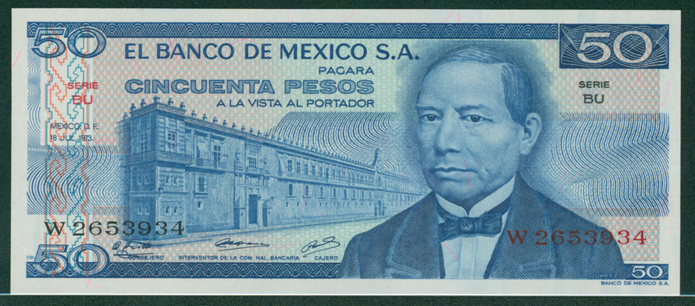 Mexico 1973 50 Pesos