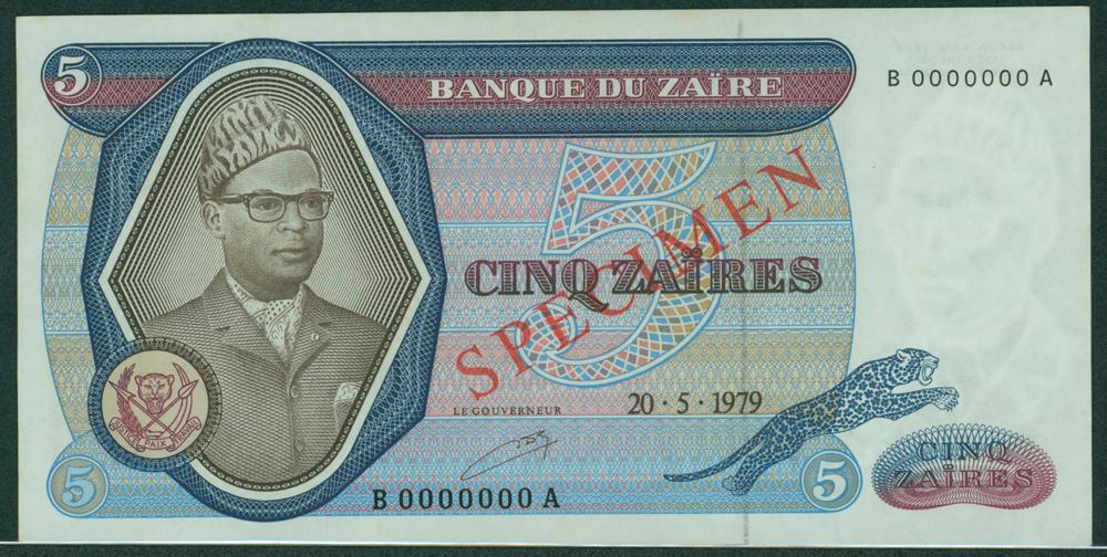 Zaire 1979 5 Zaires