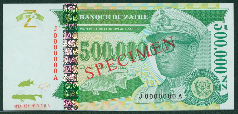 Zaire 1996 500,000 Nouveaux Zaires