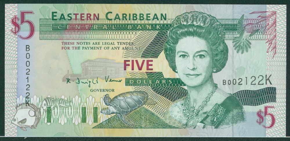 Eastern Caribbean 1994 $5