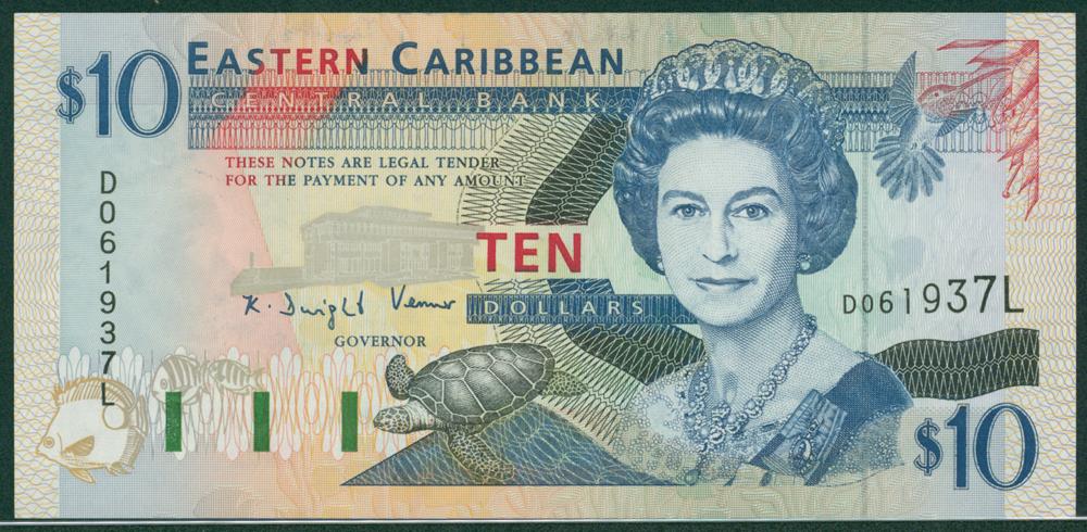 Eastern Caribbean 1994 $10