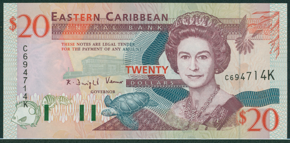Eastern Caribbean 1994 $20