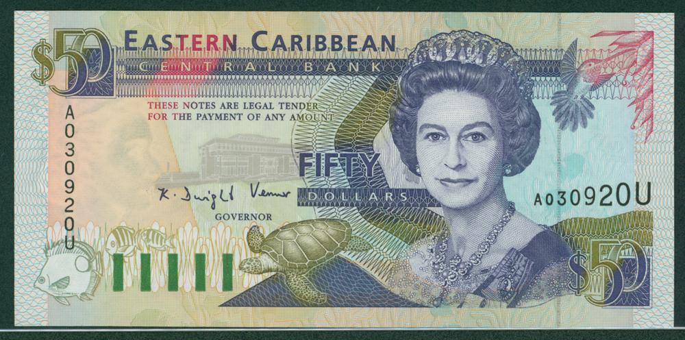 Eastern Caribbean 1994 $50