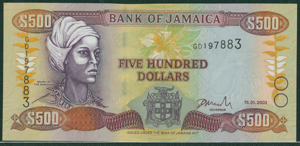 Jamaica 2003 $500 Nanny of the Maroons