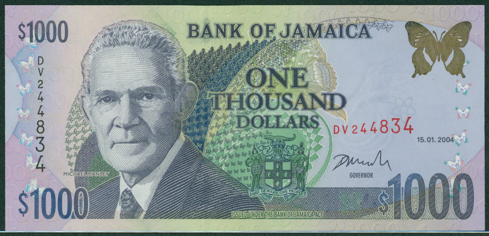 Jamaica 2004 $100 M. Manley