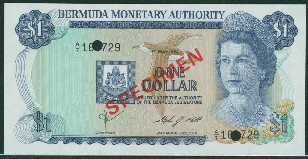 Bermuda 1984 £1 SPECIMEN