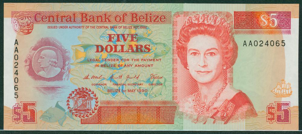 Belize 1990 $5