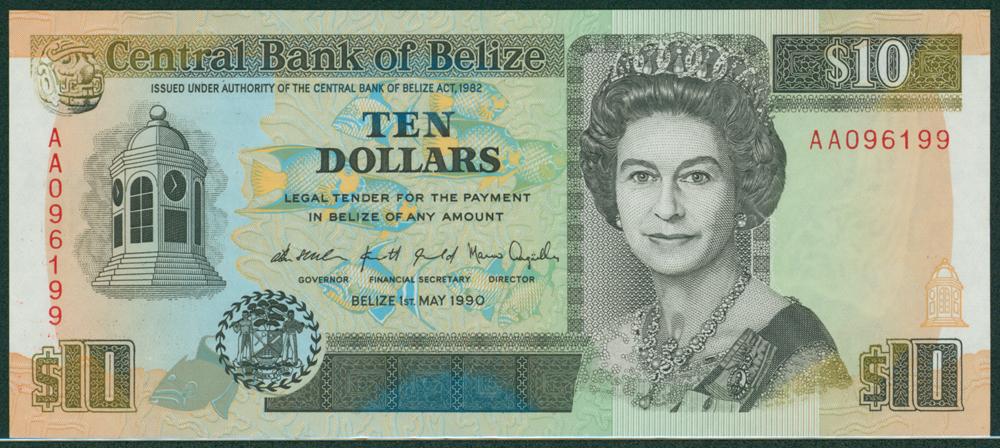 Belize 1990 $10