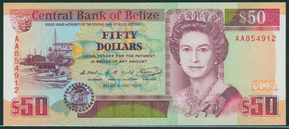 Belize 1990 $50