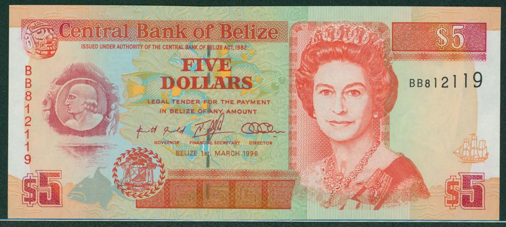 Belize 1996 $5