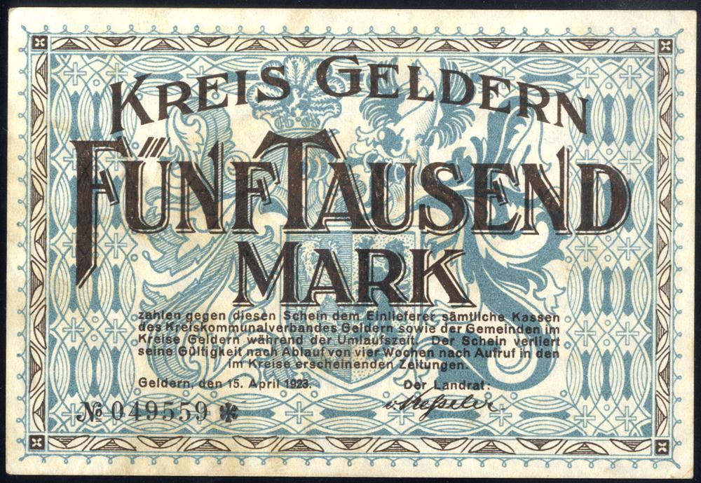Germany - Notgeld 1923 Geldern 5000 Marks