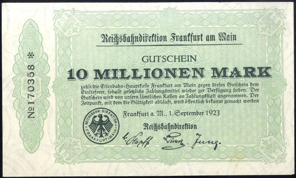 Germany - Notgeld 1923 Frankfurt 10 Millionen Marks
