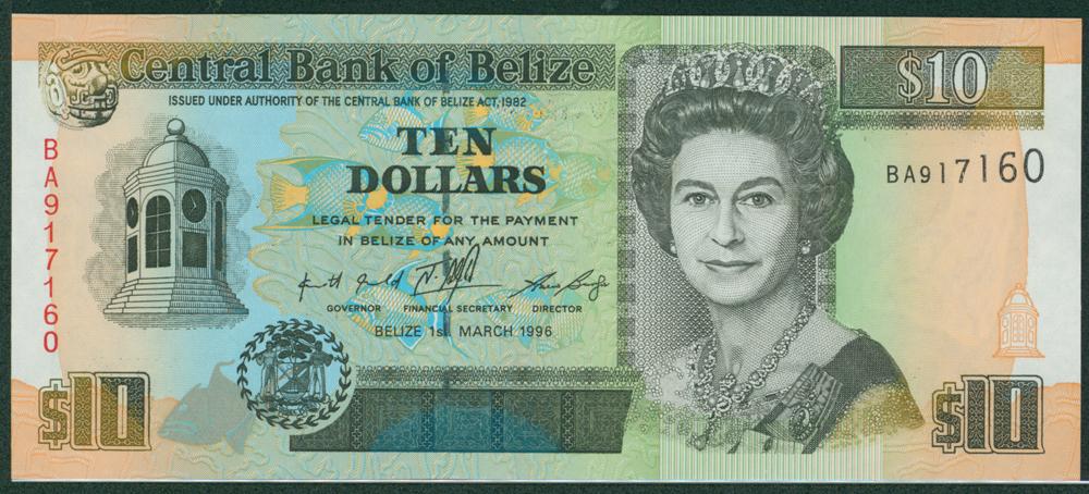 Belize 1996 $10