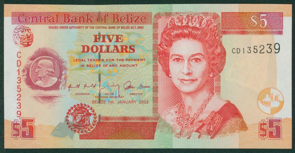 Belize 2002 $5