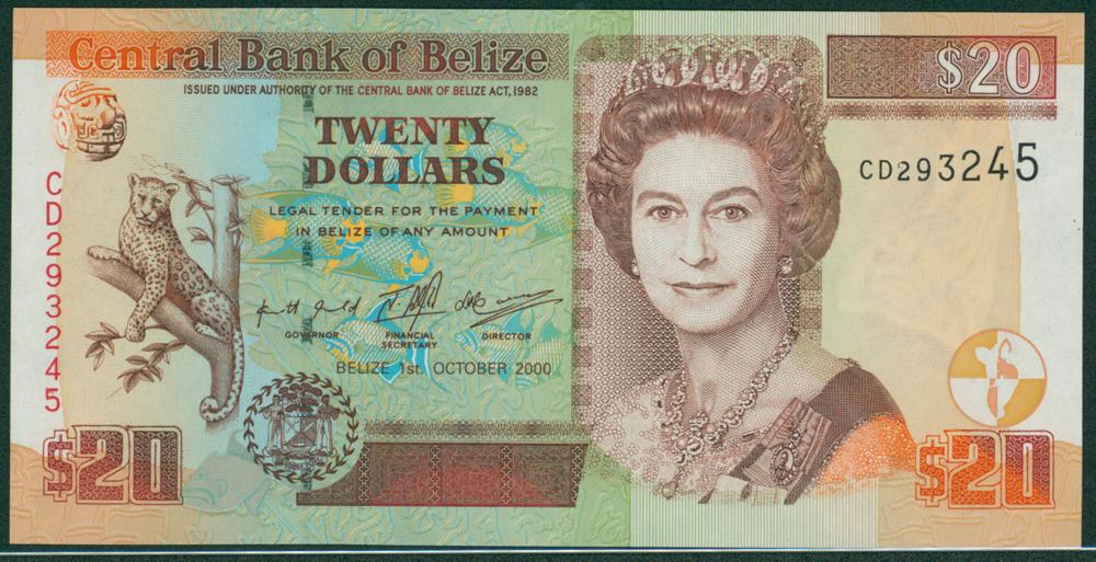 Belize 2000 $20