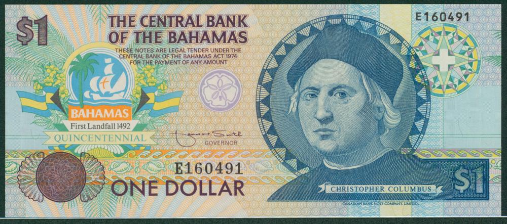 Bahamas 1974 $1 Columbus