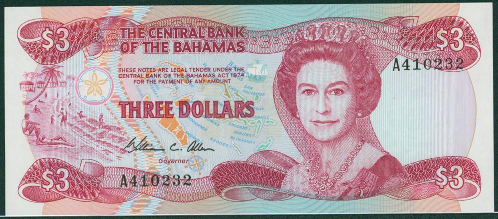 Bahamas 1974 $3