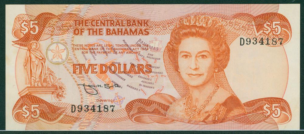 Bahamas 1974 $5