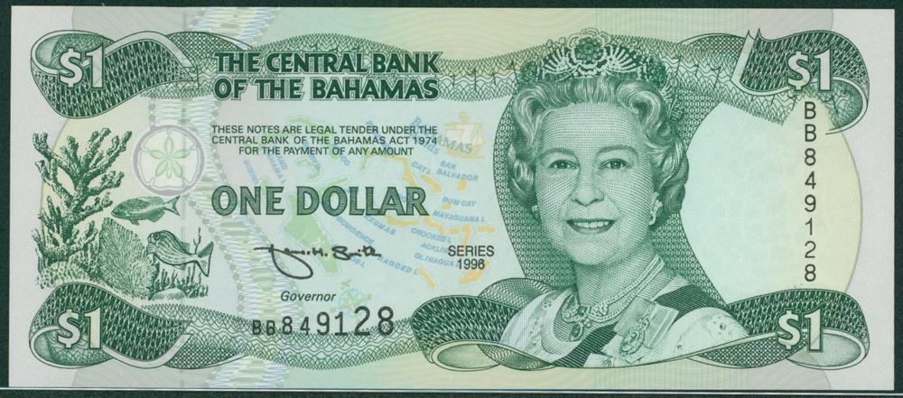 Bahamas 1996 $1