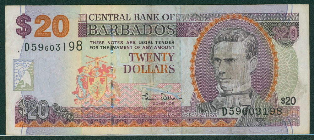 Barbados 2006 $20 Prescod