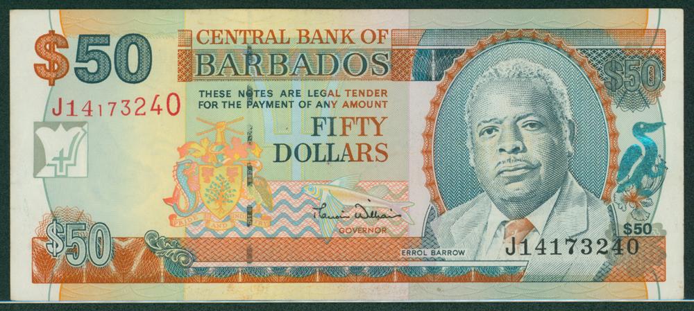 Barbados 2000 $50 E. W. Barrows