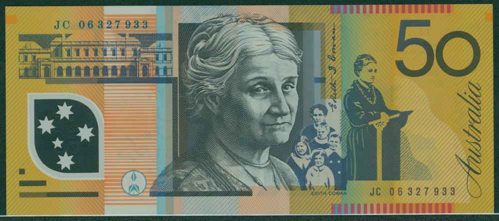 Australia 2003-06 $50 Unaipon/Cowan