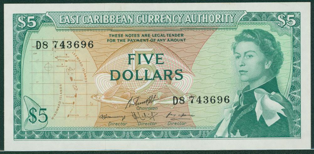 Eastern Caribbean 1965 $5