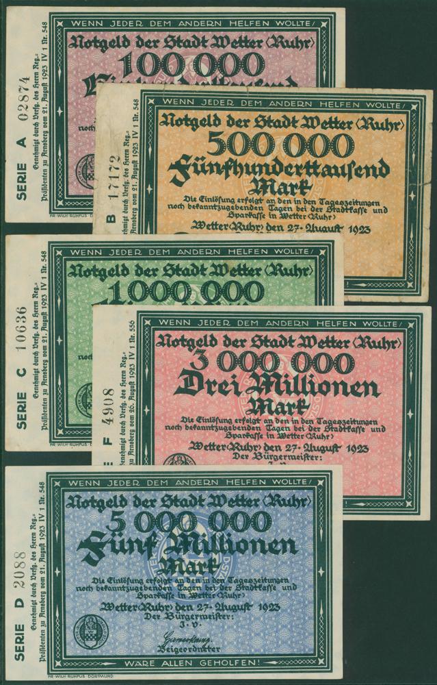 Germany - Notgeld 1923 Wetter