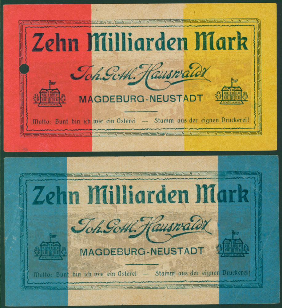 Germany - Notgeld 1923 Magdeburg-Neustadt 10 Milliarden Marks