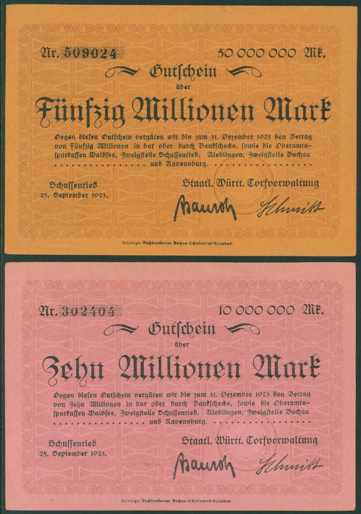 Germany - Notgeld 1923 Schussenried