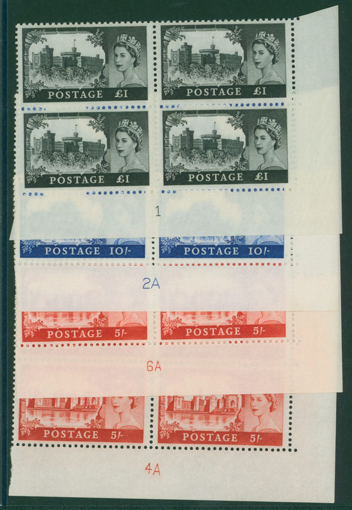 1967 Bradbury Castle UM, Plate blocks of four
