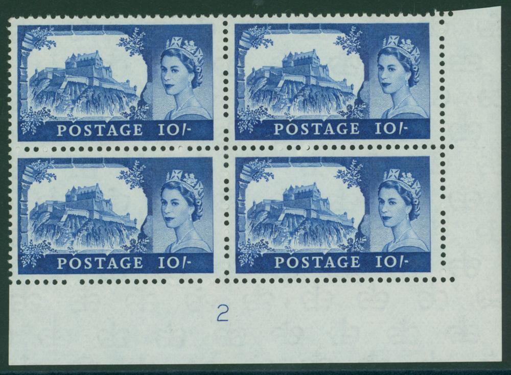 1963 Bradbury crowns 10s castle UM