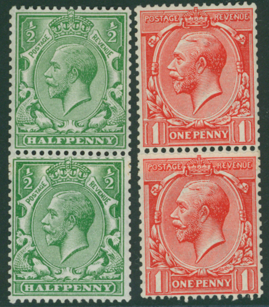 1912 Royal Cypher ½d & 1d values