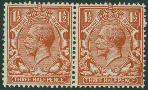 1912 Royal Cypher 1½d chestnut