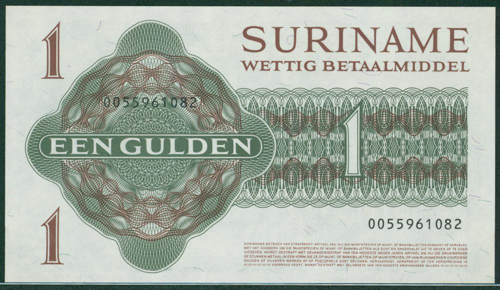 Suriname 1960 April 8th 1 Gulden