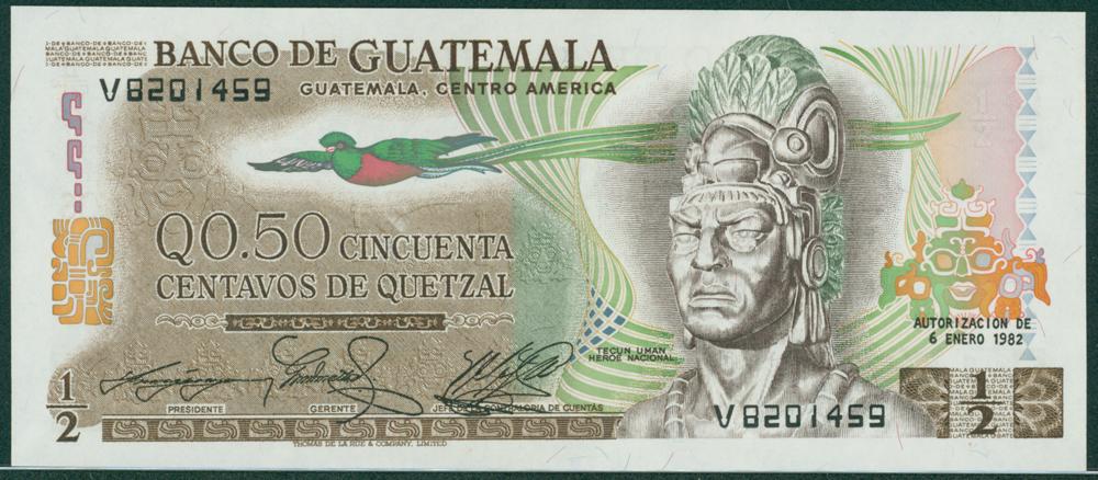 Guatemala 1982 ½ Quetzal Tecun Uman