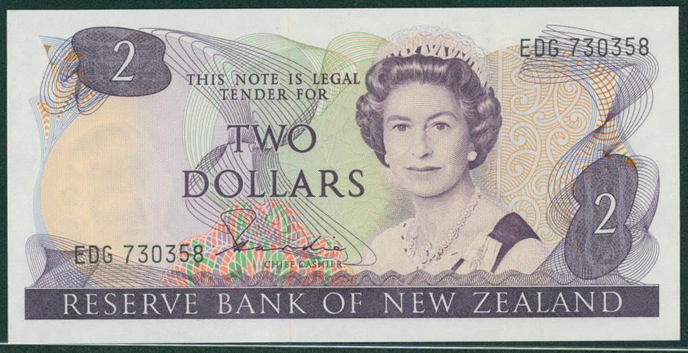 New Zealand 1984-85 2 Dollars