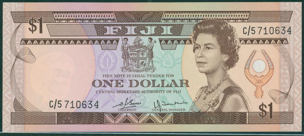 Fiji 1987 1 Dollar