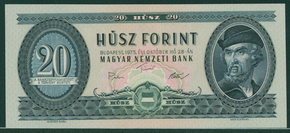 Hungary 1975 20 Forint Gyorgy Dozsa