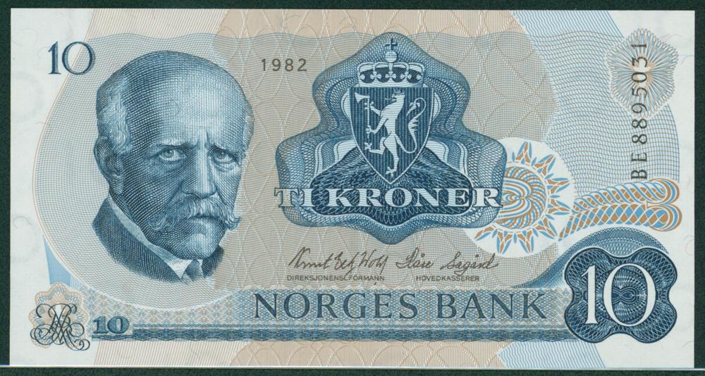 Norway 1982 10 Kroner Fridtjot Nauseu