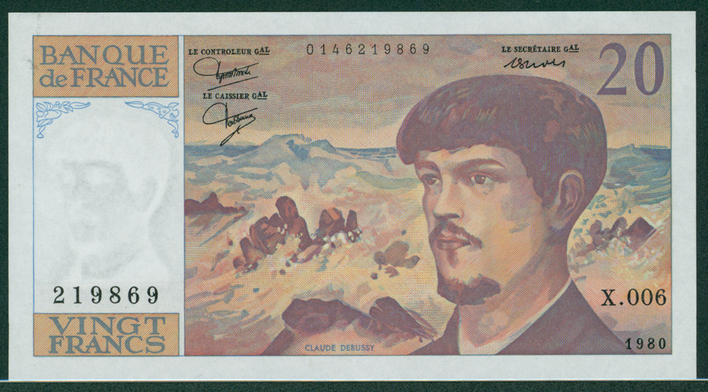 France 1980-97 20 Francs Claude Debussy