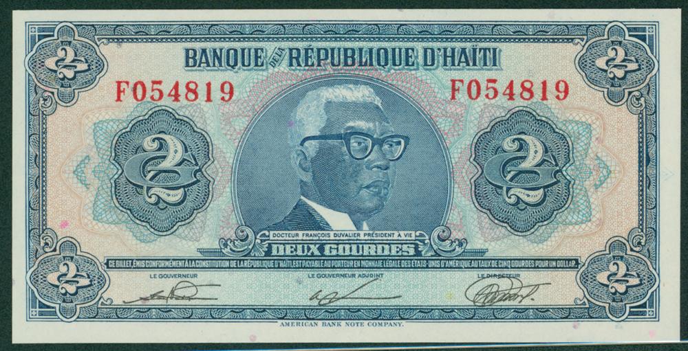 Haiti 1919 2 Gourdes Dr. Duvalier