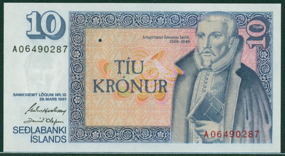 Iceland 1961 10 Kronur