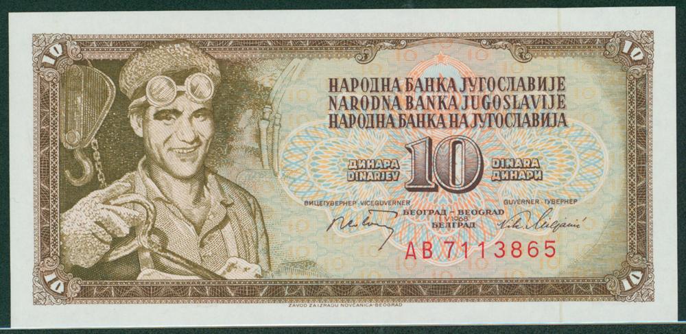 Yugoslavia 1968 10 Dinara Stell Worker