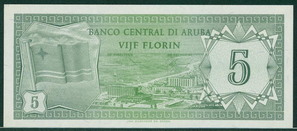 Aruba 1986 5 Florin