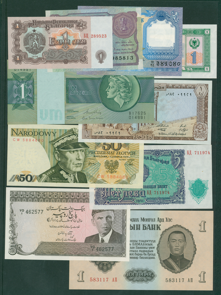 FOREIGN BANKNOTES 10 different